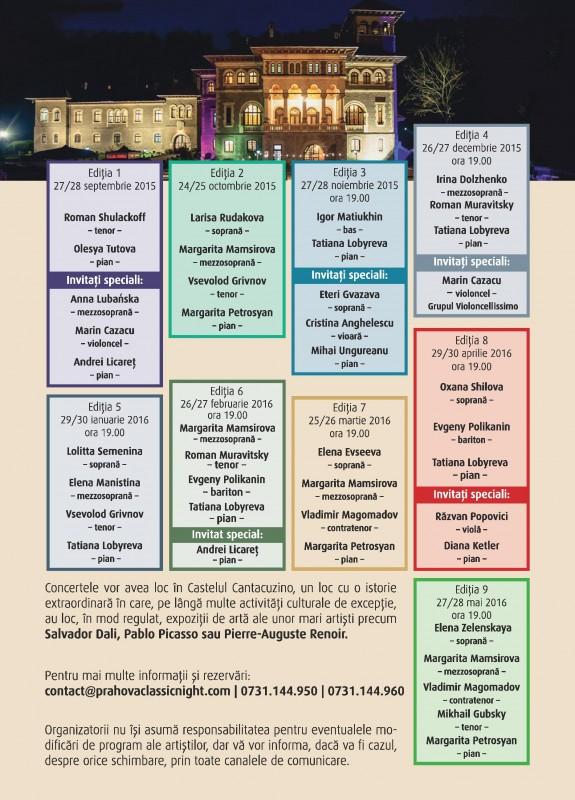 Ediția 5 Prahova Classic Nights program